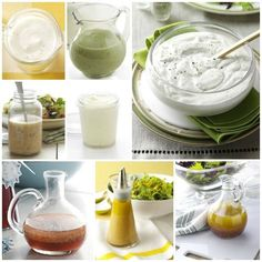 16 Homemade Salad Dressing Recipes from Taste of Home - including ranch, blue cheese & some yummy vinaigrettes. I never buy salad dressing so this is very helpful. Chutneys, Salad Dressing Recipes, Salad Recipes, Drink Recipes, Dips, Great Recipes, Favorite Recipes, Good Food, Yummy Food