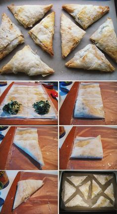 Spanakopita Greek (Spinach and Cheese) Phyllo Hand Pies Spanicopita Recipe, Phylo Dough Recipes, Mini Pot Pies, Mediterranean Appetizers, Culinary Classes, Vegetarian Recipes, Cooking Recipes, Phyllo Dough, Spinach And Cheese