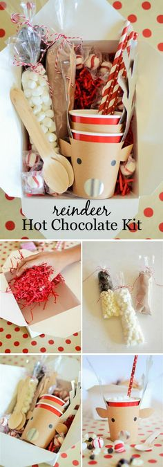 Reindeer Hot Cocoa Kit.