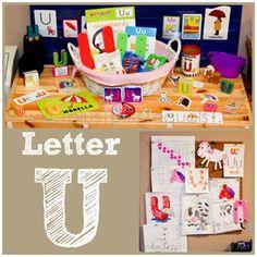 Home #Preschool Letter U
