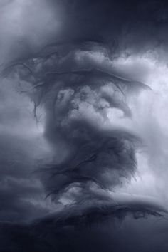 THE CLOUDS by Kilian Schönberger, via Behance This is awesome.the clouds look like a dragon All Nature, Science And Nature, Amazing Nature, Weather Cloud, Wild Weather, Beautiful Sky, Beautiful World, Beautiful Pictures, Meteorology