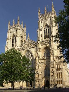 York Minster, one of Europe's greatest cathedrals. The minster is particularly famous for its stained glass (especially the enormous Great East Window, which was created by John Thornton in the early 15th century).