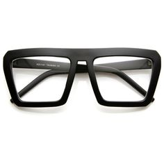 55cb839c11 Retro flat top block aviator clear lens glasses 8065 ( 14) ❤ liked on  Polyvore