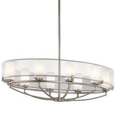 Elst Saldana 8lt oval chandelier.Projection / Overall Drop:508mm Width / Diameter:914mm £712