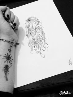 My hair's drawing