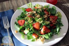 Crunchy Walnut Strawberry Salad