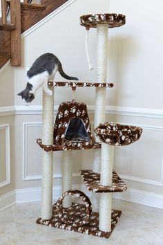 Cat Tree Scratcher Post Pet Furniture Kitty Condo Kitten Cats Animal Play Tower in Pet Supplies, Cat Supplies, Furniture & Scratchers Modern Cat Furniture, Pet Furniture, Cat Tree Condo, Cat Condo, Cat Tree Designs, Cat Basket, Cat Perch, Cat Towers, Scratching Post