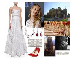 """""""Jenna at her rehearsal dinner"""" by hrh-amelia-of-croatia ❤ liked on Polyvore featuring Carmen Marc Valvo, Whiteley, Blue Nile, BERRICLE, Forever New and Rupert Sanderson"""