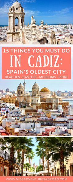 Cadiz Spain's oldest city Cool Places To Visit, Places To Travel, Places To Go, Travel Destinations, Holiday Destinations, Rota Spain, Spain Road Trip, Madrid, Spain Travel Guide
