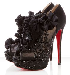 #Stunning Women Shoes #Shoes Addict #Beautiful High Heels #Wonderful Shoes #Shoe Porn    Midnight Louboutins