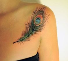 Image result for peacock feather tattoo #FeatherTattooIdeas