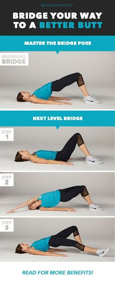 Never heard of a bridge exercise? Already a master? Read on to learn the basics, plus discover more challenging bridge exercise variations and their benefits. Fat Burning Cardio Workout, Cardio Workout At Home, Butt Workouts, At Home Workouts, Workout Kettlebell, Kettlebell Training, Hiit, Bridge Workout, Glute Bridge