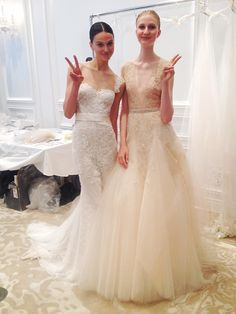A sneak peek at the pretty new wedding dresses at @m_lhuillier! | Brides.com
