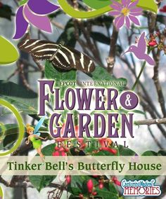 Epcot International Flower and Garden Festival - Tinker Bell's Butterfly House - this is an amazing experience!