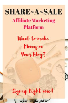 Have you joined Share~A~Sale yet? They're the BEST affiliate Platform for bloggers. They have great products and it's easy to make sells. Sign up right here, right now!