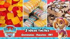 3 IDEAS FÁCILES | Gominolas, Huesitos y RKT | Mesa dulce de Tián | PAW P...
