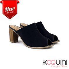 Mule em nobuck preto com salto bloco, um charme único #koquini #comfortshoes #euquero #malusupercomfort Compre Online: http://koqu.in/2cQJtg6
