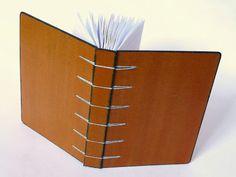 caderno a6 pautado - encadernação artesanal belga