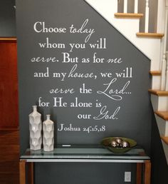Choose Whom You Will Serve Christian Bible Quote wall decal for your home. Beautiful way to bring the Lord's message into your home décor. #decal #walldecal