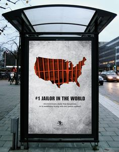 Awareness campaign for Justice Policy Institute. Bus stop ad.