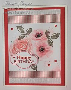 Paper Pumpkin - April 2019 - Sentimental Rose.  Click on link to see all of my alternative Sentimental Rose PP Cards. Birthday Cards, Happy Birthday, Stampin Up Paper Pumpkin, Pumpkin Cards, Pumpkin Ideas, Card Crafts, Card Sketches, Greeting Cards Handmade, Stampin Up Cards