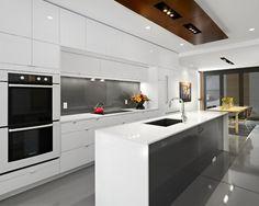 Moderne küchen weiss grau  küchenplanung eine küche selbst planen | EINRICHTUNGSIDEEN ...