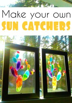 How to make beautiful sun catcher windows with items from the dollar store. CrazyDiyMom has an simple DIY for making some beautiful mini sun catchers for those windows that get a lot of sun light. Making Stained Glass, Stained Glass Birds, Faux Stained Glass, Dollar Store Crafts, Dollar Stores, Diy Crafts For Kids, Crafts To Make, Sun Crafts, Craft Ideas