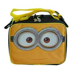 Despicable Me 2 Minion Lunch Bag Insulated Box - Yellow/black. Despicable Me 2 Minion Lunch Bag Insulated Box - Yellow/black.