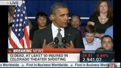 "[Video] ""This morning we woke up to news of a tragedy that reminds us of all the ways that we are united as one American family,"" says President Obama, commenting on the deadly shooting at a Colorado theater that killed 12 people and wounded 50 at the opening of the Batman movie, ""The Dark Knight."""
