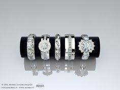 Morris Lindblom & Co valmistaa tajunnanräjäyttävät timanttikorut – esimerkiksi kihlasormukset ja vihkisormukset – toiveidesi mukaan.