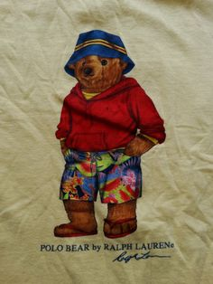 Vintage Polo Ralph Lauren Polo Bear T-Shirt ─ Beach Bum Edition  deadstock   1b5817a1e2dc