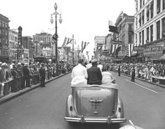 F.D.R. ON CANAL ST., 1937
