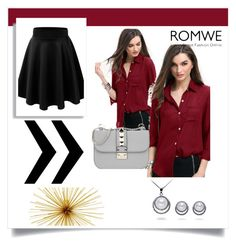 """""""romwe"""" by lamifashion ❤ liked on Polyvore featuring Valentino"""