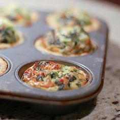 Individually sized quiches are the perfect brunch food--no cutting and serving necessary!  Here's a way to size down any quiche recipe.