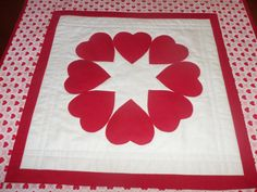Valentine's Day Quilted Heart  Table by homesewnbychristine