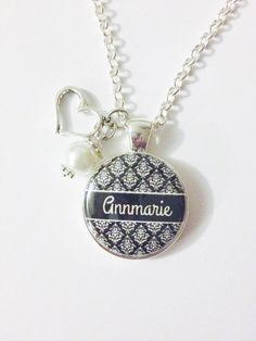 PERSONALIZED+NAME+CHARM+Necklace+or+by+AnnmarieJewelryTree+on+Etsy