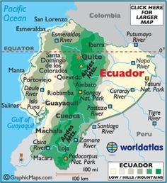 Map of Ecuador – Ecuador South America, Ecuador Map, Mapa de Ecuador - Worldatlas.com