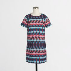 Factory printed tee dress : Casual | J.Crew Factory