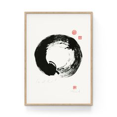 Original ink drawing of a Japanese Enso (Zen Circle) with vermilion seals. The seal on the top is shou, the sign for longevity; the one below says fu (good fortune). on rice paper. Chuang Tzu, Original Artwork, Original Paintings, Sumi Ink, Japanese Calligraphy, Japanese Words, Art Series, Rice Paper, Art Prints