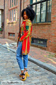 SEW WHAT?.....A dashiki shirt dress. that's what! [Pattern review]