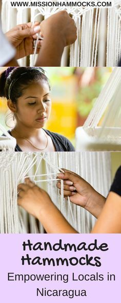 Mission Hammocks is a producer of beautifully handcrafted 100% manila cotton hammocks handcrafted with love in Nicaragua by handicapped locals. #hammockchair #hammock #handmade