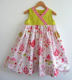 Clearance Sale, Crossover Party Dress, Strawberry Tea Party, Size 5 ready to ship