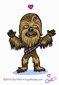 Hug O' The Day: Chewbacca Hug!