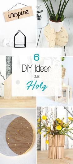 Dani vom DIY Blog Gingered Things zeigt dir 6 kreative Ideen die du aus Holz bauen oder basteln kannst. Auch tolle Geschenke.