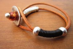 Hey, I found this really awesome Etsy listing at https://www.etsy.com/pt/listing/215403157/women-brown-leather-bracelet-sterling