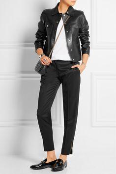 Michael Kors Bonded leather jacket NET-A-PORTER.COM