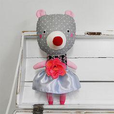 lady bear with rose / Břichopas toys
