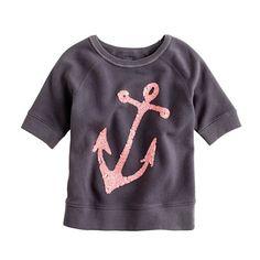 sequin anchor sweatshirt