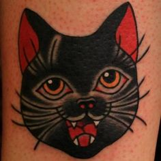 Image result for black cat tattoo