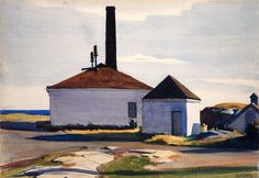 Edward Hopper, **House of the Fog Horn, No. 2 ** 1927 on ArtStack American Realism, American Artists, Manet, Edward Hopper Paintings, Johannes Vermeer, Ashcan School, Museum Of Fine Arts, Les Oeuvres, Statues